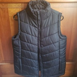 Black Puffer Vest, Size MEDIUM